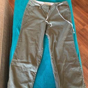Ann Taylor Loft olive green pants, size 12